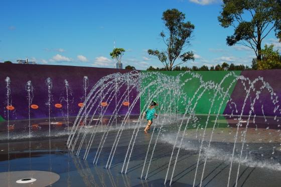 Blaxland Riverside Park - Water play area