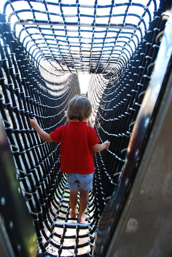 Blaxland Riverside Park - Inside the Climbing Tower