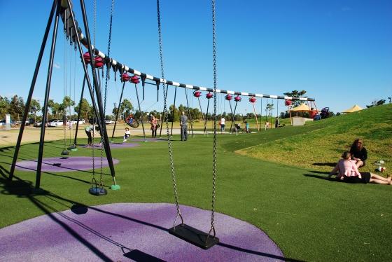 Blaxland Riverside Park - Giant Swings